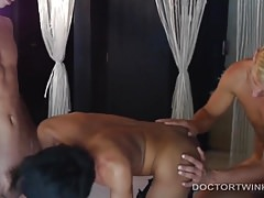 Bareback Medical Fetish Threesome