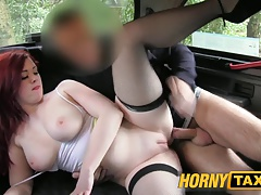 HornyTaxi Filthy valley girl gets the ride of her life