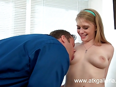 Blonde babe  Allie James is fucked by a big cock