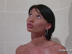 Gorgeous big titted milf hard anal fucked and facialized
