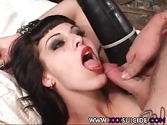 XXX Suicide Tattooed and Pierced Rachel anal sex