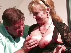 German Big Tit Step-Mom Want His Monster Cock to Fuck
