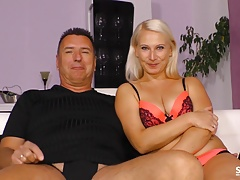 Sextape Germany - First fuck on cam for blonde German newbie